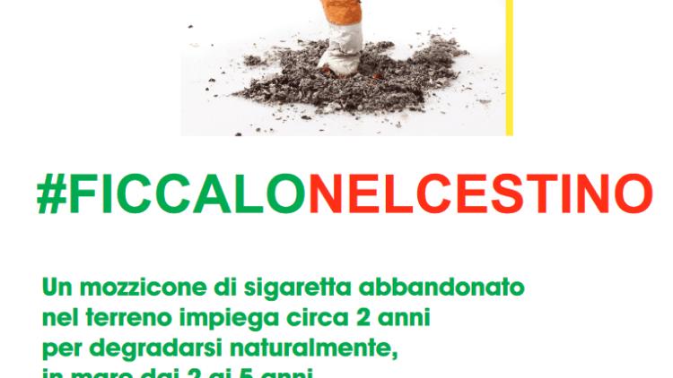 #ficcalonelcestino, Torchiara sensibilizza i cittadini contro le cicche di sigaretta!